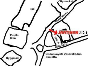 Kartta Jaatinen Rentille Miilukatu3